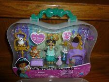 Disney Princess Little Kingdom JASMINE'S GOLDEN VANITY Set Snap-Ins Lamp Abu