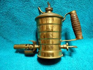 Acme Paint Burner Brass Gasoline Blow Torch Manufactured John Bassemir New York