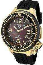 Swiss Legend Womens Neptune 1184BKBGA Mother of Pearl Gold-Tone Steel & Ceramic