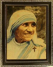 Mother Theresa wall frame /Christian frame / Tapestry insert / Home Decorative