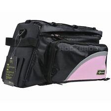 Rockbros Bike Bag Rear Carrier Bag Rear Pack Trunk Pannier Black Pink