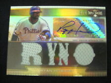 RYAN HOWARD AUTO & QUAD JERSEY RELICS CARD--2011 TRIPLE THREADS --#6/9 !!!