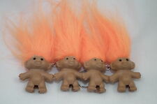 FOUR Troll Keyrings ORANGE Pencil Top GREAT GIFT