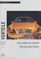 1110MB Mercedes E-Klasse Vorteile Sicherheit 1995 3/95 Publikation Prospekt
