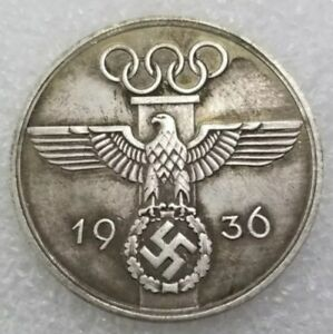 Reich mark Olimpic game 1936 Commemorative Coin Souvenir  Gift