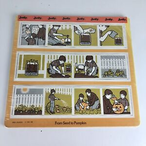 Vintage Judy Puzzle Cardboard See Quees Sequence Order Growing Plants Made USA