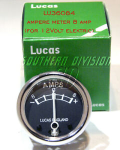 Genuine Lucas 8A Amperemeter 8-0-8 Ammeter 36084 Diameter 1 3/4 BSA Triumph AJS