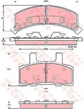 GDB1273 TRW Bremsbelagsatz, Scheibenbremse Vorderachse