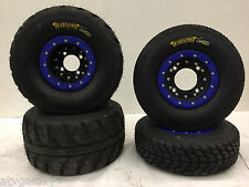 Hiper CF1 Beadlock Wheels Speedracer Tires Front/Rear Street Kit 450R LTR450 KFX
