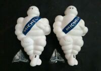 "2X 10"" Limited Michelin Man Doll Blue Vintage Figure Bibenddum Car Bus Tire"
