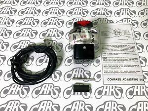 1957-1964 Chevrolet Accessory Compass | Dinsmore | White | OEM #987737