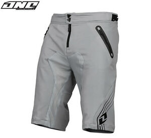 ONE INDUSTRIES ION MTB BIKE SHORTS GREY WITH LINER cycling trail riding mens