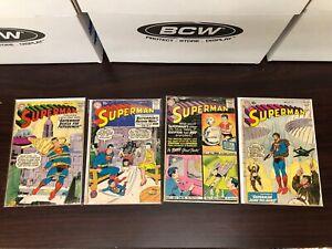 LOT of 4 10c SUPERMAN COMICS: #128 131 132 133 SILVER AGE SUPERMAN NO RESERVE #2