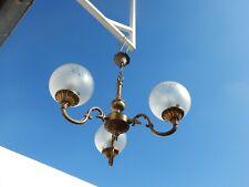 lustre bronze 3 globes style Louis XV