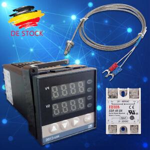0- 400 °C Digitaler -PID-Temperaturregler REX-C100 eingestellt+K Thermoelement