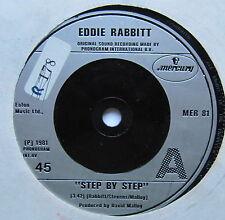 """EDDIE RABBITT - Step By Step - Excellent Condition 7"""" SingleMercury MER 81"""