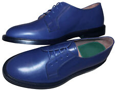 PAUL SMITH FORMAL ELECTRIC BLUE LEATHER SHOES NEW BOXED made in Italy SZ:UK9