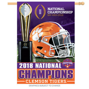 Multicolor NCAA Clemson Tigers 2016 National Champions Framed Championship Banner 14.5 x 27.5