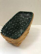 Longaberger 1998 Medium Vegetable Basket Combo, Green Heritage Stand Up Liner