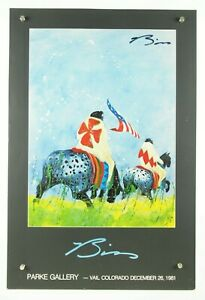 """ultra rare Earl Biss SIGNED Parke Gallery Vail Colorado 1981 art poster 18x27"""""""