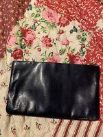 Clemente Genuine Leather Clutch Handbag Black.