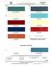 1954 CHEVROLET BEL AIR CORVETTE150 210 DELRAY 54 ORIGINAL PAINT CHIPS DITZLER