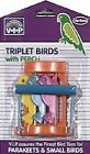 Vo-Toys Bird Small Triplett Birds Toy With Perch Xpet Plastic Triplet Xpet