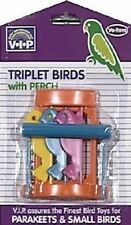 VOTOYS XPET BIRD SMALL TRIPLET BIRDS TOY WITH PERCH. FREE SHIP IN THE USA