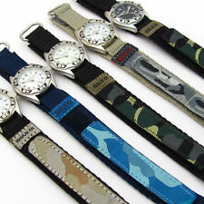 Fabric/Canvas Strap Analog Unisex Wristwatches