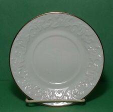 "Limoges Dessert Plate France Porcelain Gold Trim 6"" diameter with Relief"