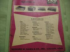 SAMS AUTO RADIO MANUAL(AR 126 FIRST EDITION PRINTING-AUG. 1972 AND EXTRA