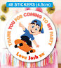48 Birthday Party Bag Stickers Sweet cone Labels Skating Personalised