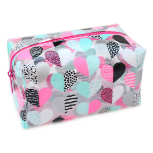 Large Clear Kids Girls Woman's School Pencil Case Make Up Travel Bag Pouch