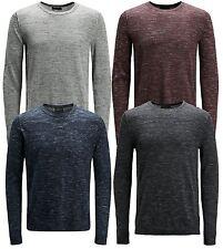 JACK & JONES New Men's Grow Knit Regular Cotton Blend Jumper Crew Neck Sweater