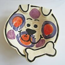 Handmade Dog Bone Medium Pottery Dog Bowl - ONLY 1 LEFT - Free Shipping