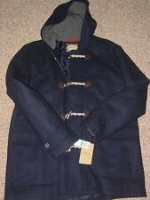 GH Bass & Co Mens Midnight Navy Blue Wool Jacket w/Hood Size L NWT's! $270.00