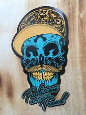 Skull Tradition Gentleman Oldschool Tattoo Aufkleber Biker Sticker Rockabilly