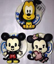JIBBITZ DISNEY Mickey Minnie Pluto Baby Tsum CROC RUBBER SHOE CHARM New All 3
