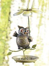 sehr schöne Vogeltränke, Vogelfutterstation, Eule mit großer Blume, neu