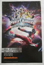 NEW SDCC 2017  POWER RANGERS Ninja Steel POSTER 11 x 17 Nickelodeon