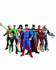 7 PCS Justice League Superman Batman Flash Aquaman DC Universe action Figures  H