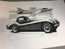 Jaguar XK120 Coupe Limited Edition Pen Ink Print Phillip Lemon