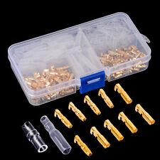 120x Crimpverbinder 3.5mm Messing Flachsteckhülsen Flachstecker Kabelschuhe Set