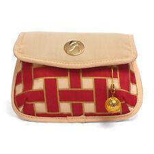 Ladies Golf Organizer Zip Pouch & Belt Bag in Red and Cream