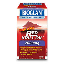 Bioglan High Dose Red Krill Oil 2000mg 30 Soft Capsules - Omega-3, Heart, Joints