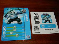 LOT autocollant carte FIGURINE gusto barkley SKYLANDERS console nintendo Wii