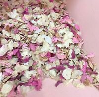 Biodegradable WEDDING CONFETTI Pink Rose Gold Ivory Dried FLUTTERFALL Petals