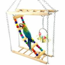 Bird Hamster Bridge Wood Swing Small Pet Ladder Stand Platform Cage Accessories