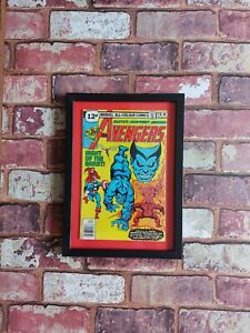 VINTAGE MARVEL COMICS AVENGERS FRAMED COMIC BOOK 1978 MAN CAVE OFFICE BAR