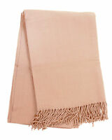 50x70 Home Durable Cashmere-like Blanket Throw w/ Tassel Sofa Bed Decor